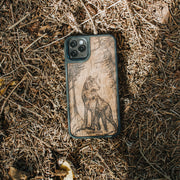 Real Wood Wolf iPhone Case
