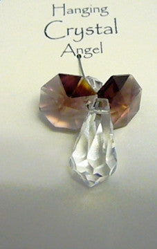 Angel Hanging Crystal Amethyst Purple