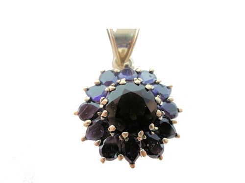 Amethyst and Smoky Quartz Pendant