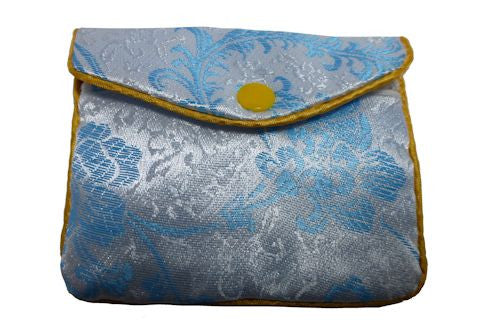 Chinese Purse - blue flower medium
