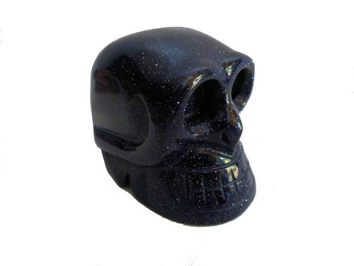 Blue Goldstone Skull