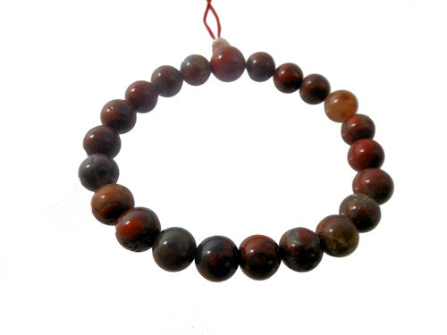 Breciated Jasper Beaded Bracelet