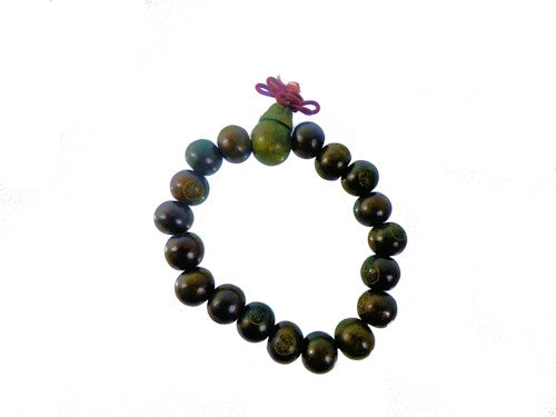 Wooden Buddha Beaded Bracelet