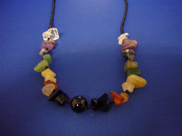 Chakra Chip Stone Necklace