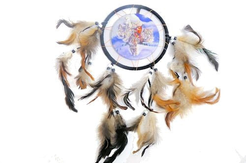 Round Dream Catcher with Animal Spirit Guides