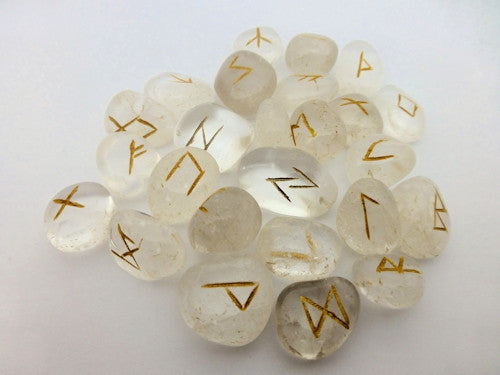 Rock Crystal Rune Stones