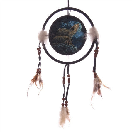 Howling Wolf Dream Catcher by Lisa Parker