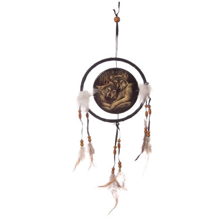 Loyal Wolves Dream Catcher by Lisa Parker