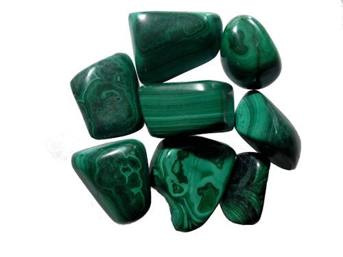 Malachite Tumble Stones medium
