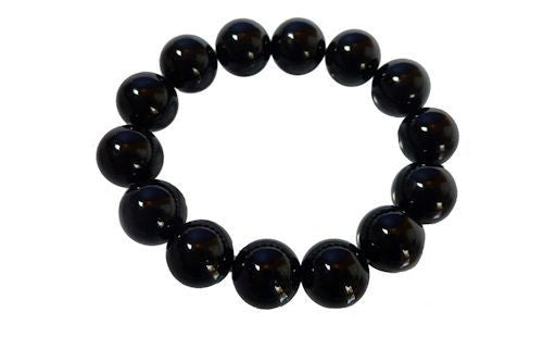 black obsidian beaded bracele