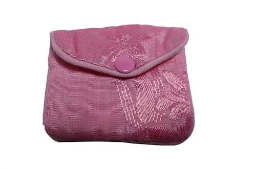 Chinese Purse -  pink leaf x-small