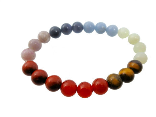 Rainbow Crystal Bracelet Wider Fit
