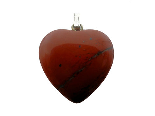 Red Jasper Heart Pendant