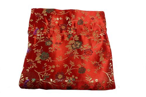 Chinese Drawstring Bag Red Satin