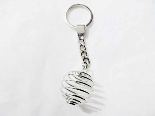 Silver  Cage Keyring