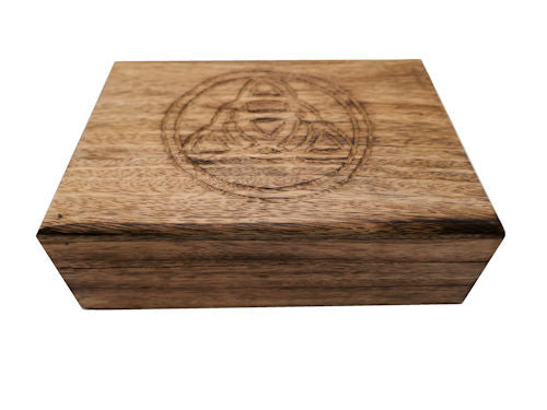 Wooden Triquetra Tarot/oracle card box