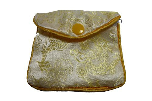 Chinese Purse - light yellow swirl  small