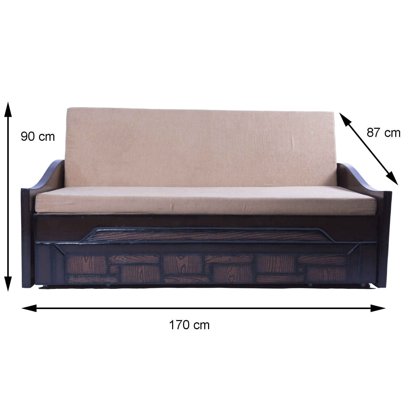 Mood of Wood multipurpose Wooden 3 seater sofa cum bed – Mood Wood