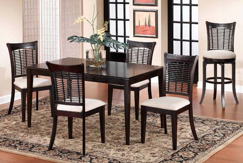 Hillsdale Bayberry 5 Piece Dark Cherry Rectangle Table Set 4783DTBCRCT