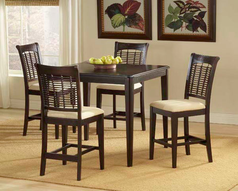 Hillsdale Bayberry 5 Piece Square Counter Height Table Set 4783DTBSG