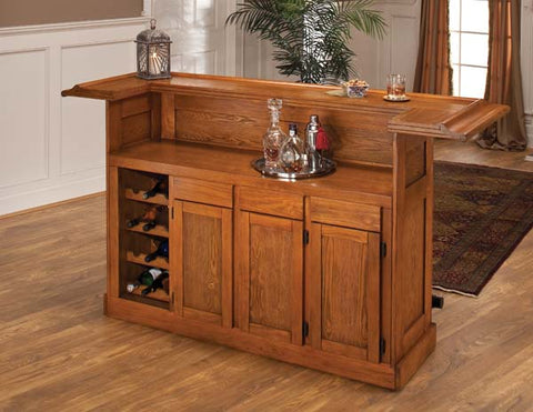 Hillsdale Classic Oak Large Home Bar 62576AOAK