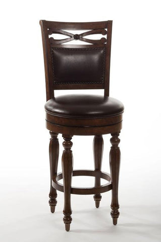 Hillsdale Furniture 5388-827 Hamilton Park Swivel Counter Stool with Upholstered Back - Completely KD - HillsdaleSuperStore
