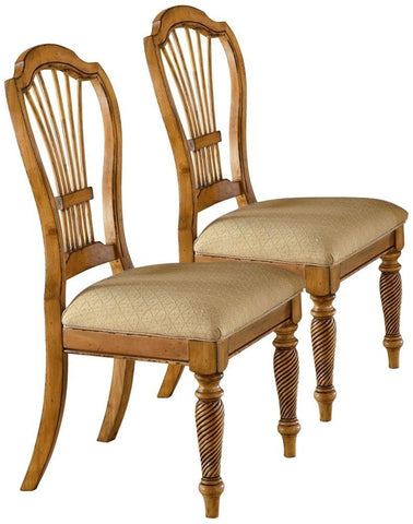 Hillsdale Wilshire Antique Pine Side Chair Set of 2 4507-802 - HillsdaleSuperStore