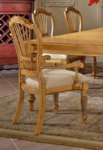 Hillsdale Wilshire Antique Pine Arm Chair Set of 2 4507-805 - HillsdaleSuperStore