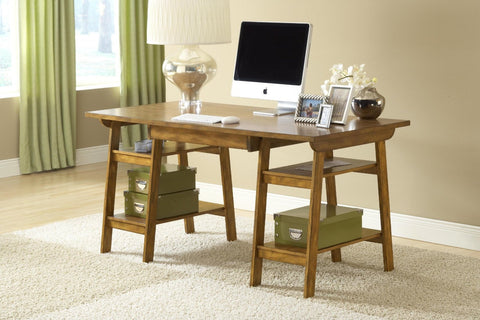 Hillsdale 4337-860S Parkglen Desk - Medium Oak - HillsdaleSuperStore