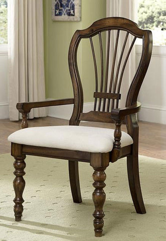 Hillsdale Furniture 4860-803 Pine Island Wheat Back Arm Chair - Set of 2 - HillsdaleSuperStore