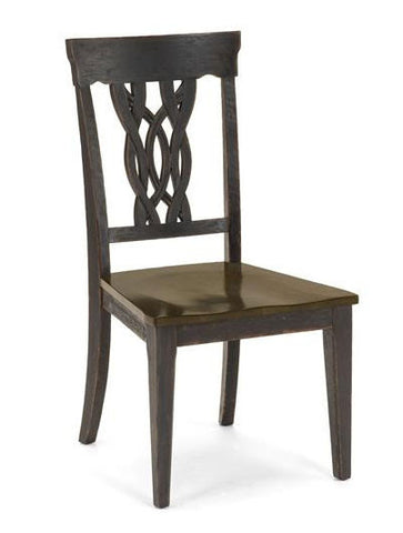 Hillsdale Furniture 5395-802 Lafayette Center Panel Wood Seat Dining Chair - Set of 2 - HillsdaleSuperStore