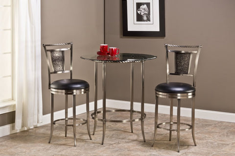 Hillsdale Furniture 5320PTBS Parkside 3pc Bar Height Pub Table Set - HillsdaleSuperStore