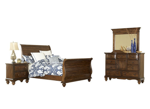 Hillsdale Furniture 1052BKR4SET Pine Island Sleigh 4 PC Bedroom - King - HillsdaleSuperStore