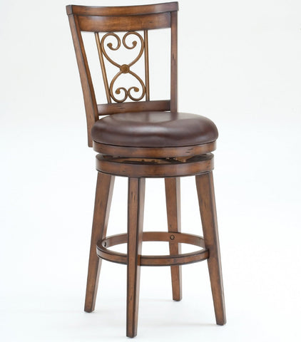 Hillsdale Furniture 4685-830S Villagio Swivel Bar Stool - Scroll Back - HillsdaleSuperStore