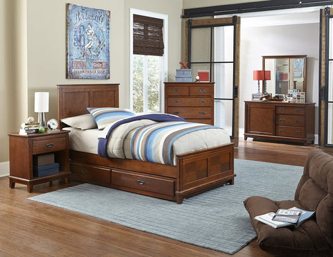 Hillsdale Furniture 1836BTWRT5PC Bailey Panel Bed - Twin, Trundle, Dresser, Mirror, Night Stand, Chest - HillsdaleSuperStore