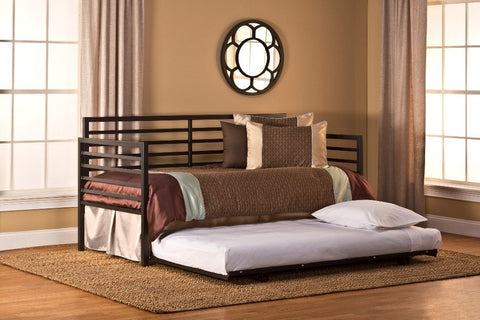 Hillsdale Furniture 1711DBLHTR Latimore Daybed w/ Suspension Deck and Roll-Out Trundle - HillsdaleSuperStore