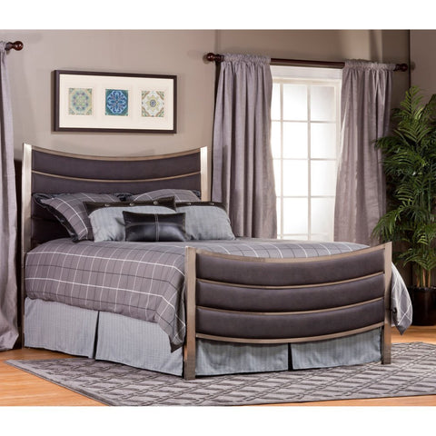 Hillsdale Furniture 1713BKR Montego Bed Set - King - with Rails - HillsdaleSuperStore