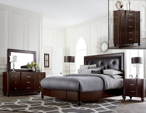 Hillsdale Furniture 1225BKR5PC Roma 5 PC King Bedroom - HillsdaleSuperStore