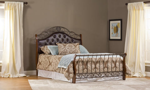 Hillsdale Furniture 1120BQR Hyde Park Bed Set - Queen - with Rails - HillsdaleSuperStore