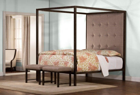 Hillsdale Furniture 1409BKR King's Way Bed Set with Canopy - King - HillsdaleSuperStore