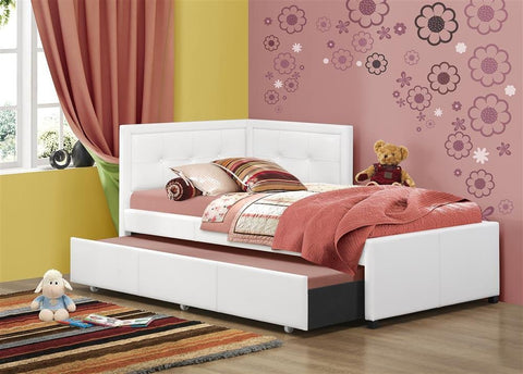 Hillsdale Furniture 1380BTWRTR Frankfort Bed Set - Twin - with Rails and Trundle - HillsdaleSuperStore