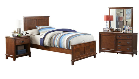 Hillsdale Furniture 1836BFR4PC Bailey Panel Bed - Full, Dresser, Mirror, Night Stand - HillsdaleSuperStore