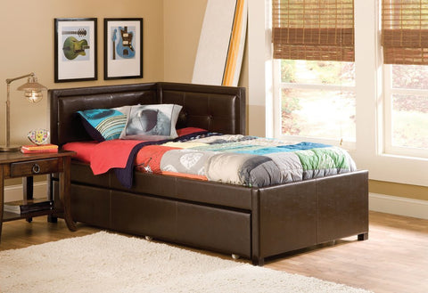 Hillsdale Furniture 1205BFRTR Frankfort Bed Set - Full - with Rails and Trundle - HillsdaleSuperStore