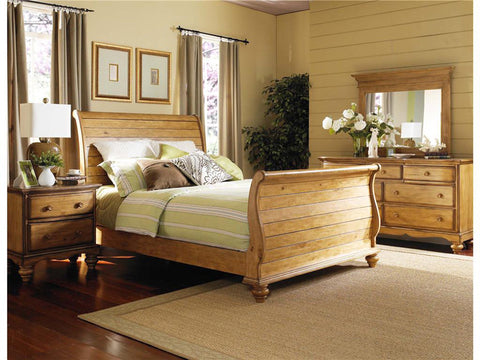Hillsdale 1553BQR4PC Hamptons Bed - Queen, Nightstand, Dresser, and Mirror - HillsdaleSuperStore