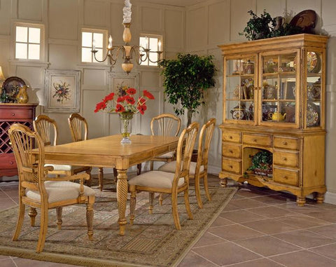 Hillsdale Wilshire 7 Piece Antique Pine Rectangular Dining Table Set 4507DTBRCTCSC - HillsdaleSuperStore