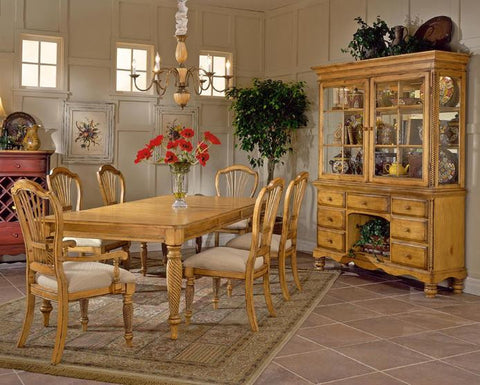 Hillsdale Wilshire 5 Piece Antique Pine Rectangular Dining Table Set 4507DTBRCTC5 - HillsdaleSuperStore