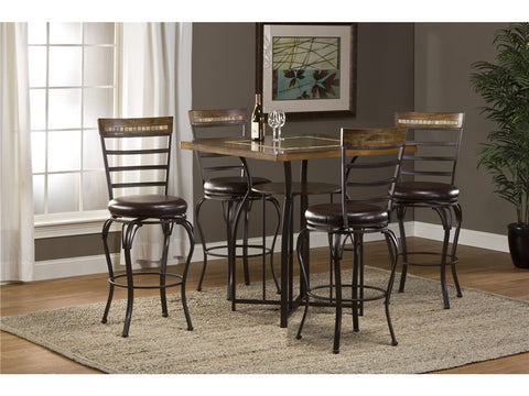 Hillsdale 5203BTBS Westridge 5pc Set - Bar Height Table and Stools - HillsdaleSuperStore