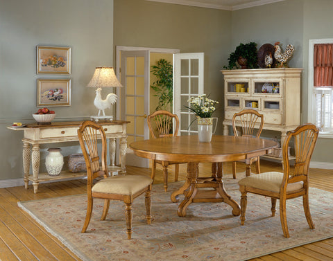Hillsdale Wilshire Antique Pine Round Dining Table 4507DTBRND - HillsdaleSuperStore