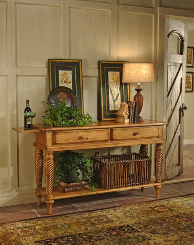 Hillsdale Wilshire Sideboard Table Antique Pine 4507SB - HillsdaleSuperStore
