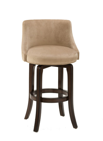 Hillsdale Napa Valley 25 Inch Counter Stool w/ Textured Khaki Fabric Seat 4294-828 - HillsdaleSuperStore